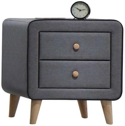 Acme Furniture Valda 24523 Nightstand Gray, Angled View