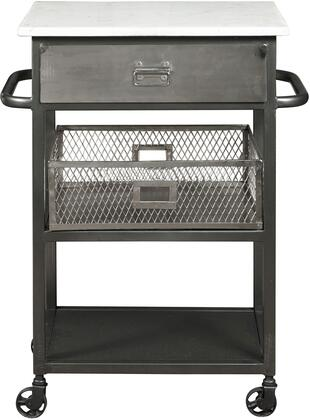 HomeFare P050423BT Kitchen Cart Gray, main image