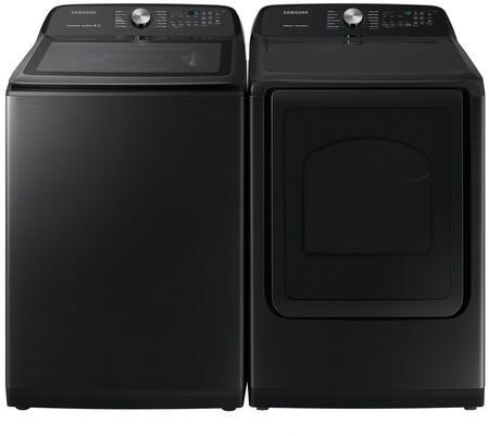 Samsung  1011214 Washer & Dryer Set Black Stainless Steel, 1