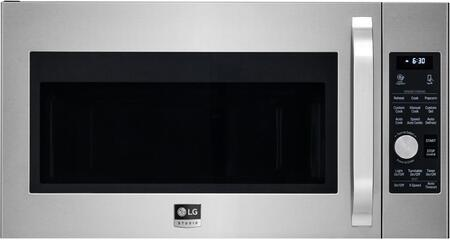 LSMC3086SS 30″ Printproof Stainless Steel Over the Range Microwave with 1.7 cu. ft. Capacity  1650 Cooking Watts  Convection Technology  and 300