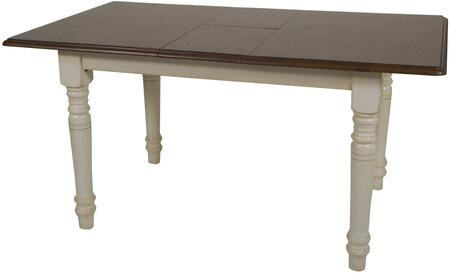 Sunset Trading Andrews DLUTLB3660AW Dining Room Table White, DLUTLB3660AW Main View