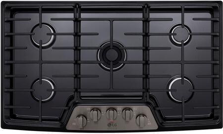 LG Studio LSCG367BD Gas Cooktop Black Stainless Steel, 1