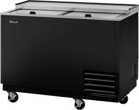 Turbo Air Super Deluxe TBC50SBGFN Glass Chiller and Froster Black, TBC50SBGFN Angled View