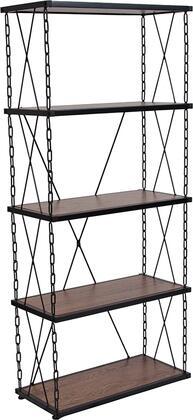 Flash Furniture Vernon Hills NANJN21720B5GG Bookcase Black, 1