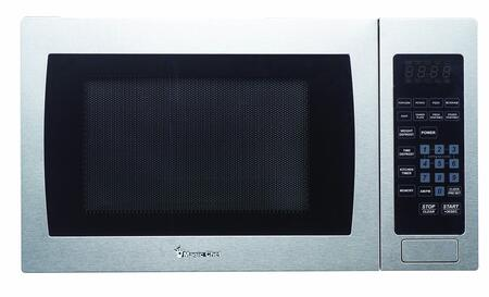 Magic Chef MCM990ST 20 Countertop Microwave Oven with 0.9 cu. ft. Capacity  10 Power Levels  8 Programmed Cooking Modes  900 Cooking Watts and Glass Turntable
