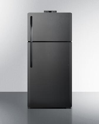 Summit  BKRF18B Top Freezer Refrigerator Black, BKRF18B Top Freezer Refrigerator