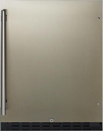 Summit  AL55 Compact Refrigerator Stainless Steel, AL55 ADA Compliant Compact Refrigerator