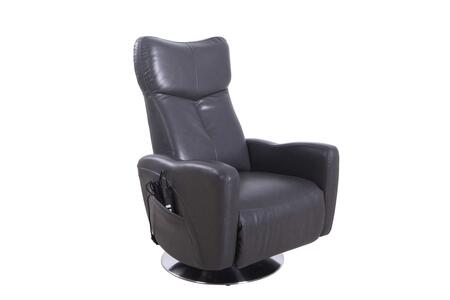 Vestal Collection VESTAL595515 Power Recliner with 360 Degree Swivel  Dual Motor Power Recline  Memory Foam Seating  All Steel Construction and