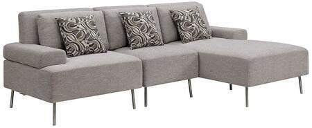 Furniture of America Bryn CM6341SET3 Sectional Sofa Gray, Main Image