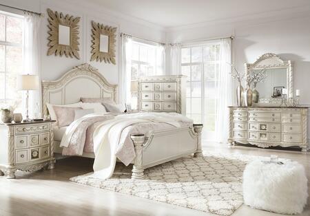 Signature Design by Ashley Cassimore B750KPBDM2NC Bedroom Set Silver, Main Image