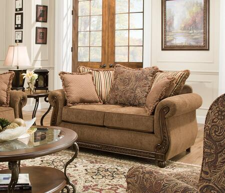 Lane Furniture Outback 811502OUTBACKCHOCOLATE Loveseat Brown, Loveseat