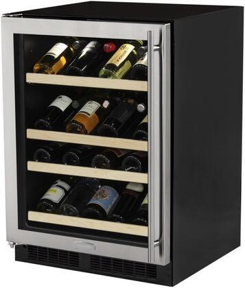 Marvel ML24WSG1LS Wine Cooler 26-50 Bottles, stainless steel left hinge shelves down