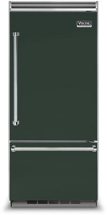 Viking 5 Series VCBB5363ERBF Bottom Freezer Refrigerator Green, VCBB5363ERBF Bottom-Freezer Refrigerator