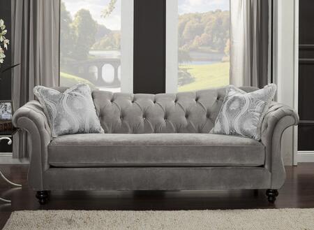Furniture of America Antoinette SM2225SF Stationary Sofa Gray, Main Image