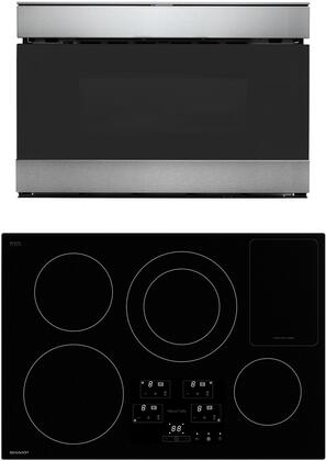 2 Piece Kitchen Appliances Package with SDH3042DB 30″ Induction Cooktop and SMD2489ES 24″ Microwave in Stainless