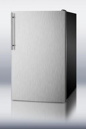 Summit CM421BLBIADA CM421BLXBISSHVADA Compact Refrigerator Stainless Steel, 1