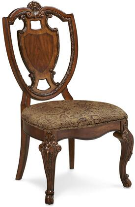143202-2606 Old World – Shield Back Side Chair w/ Fabric