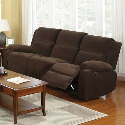 Furniture of America Haven CM6554S Motion Sofa Brown, Main Image