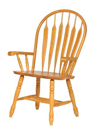 Sunset Trading Sunset Selections DLU4130LOA Dining Room Chair Brown, DLU4130LOA Main View
