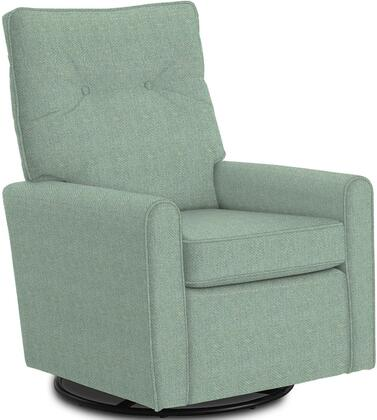 Phylicia Collection 4007-21782 Recliner with 360-Degrees Swivel Glider Metal Base  Removable Back  High Backrest  Zipper Access and Fabric Upholstery