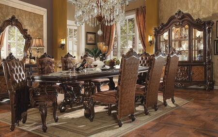 Acme Furniture Versailles 6110010TCCB Dining Room Set Brown, 10 PC Set