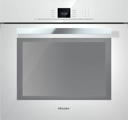 Miele SensorTronic H6680BPBRWS Single Wall Oven White, Main Image