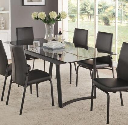 Acme Furniture Osias 73155 Dining Room Table Black, 1