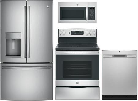GE  1222993 Kitchen Appliance Package Stainless Steel, Main image