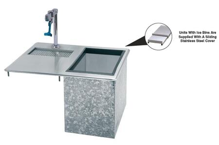 Advance Tabco  D24WSIBLX Commercial Drop in  Weld In and Undermount Sink Stainless Steel, 21 x 18 Water Station