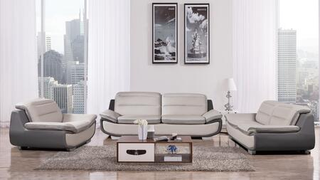 American Eagle Furniture AE638 AE638LGDG Living Room Set Gray, AE638 LG.DG