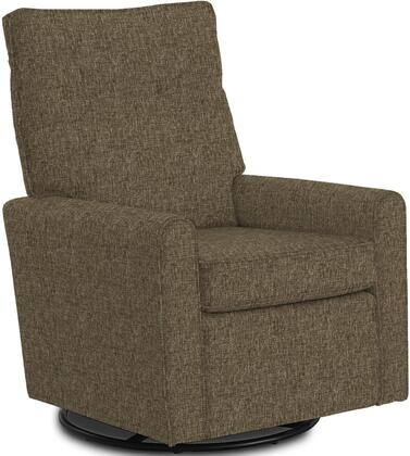 Phylicia Collection 4007-20676 Recliner with 360-Degrees Swivel Glider Metal Base  Removable Back  High Backrest  Zipper Access and Fabric Upholstery