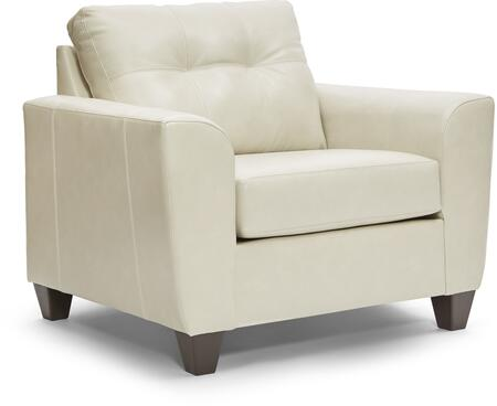 2024-01 SOFT TOUCH CREAM 46″ Chair 1/4 with Tufted Back Cushion in Leather Upholstery Cream