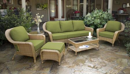 Tortuga Sea Pines LEX651MKIWI Outdoor Patio Set Brown, LEX651MKIWI Main Image
