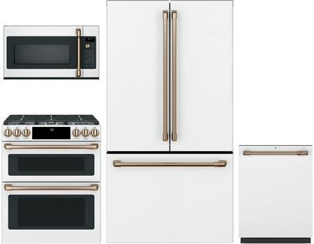 Cafe Matte Collection 1066292 Kitchen Appliance Package Matte White, main image