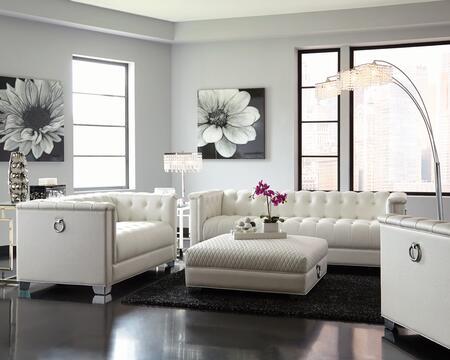 Coaster Chaviano 50539SLCO Living Room Set White, Main Image