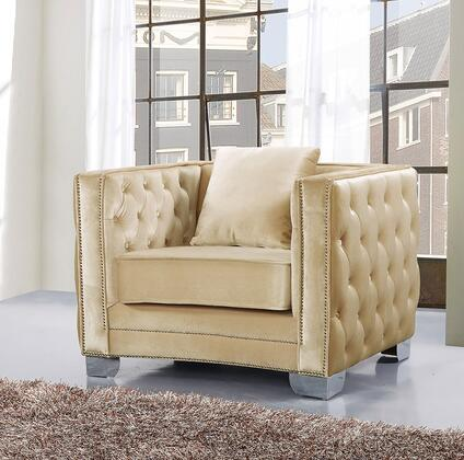 Meridian Reese 648BEC Living Room Chair Beige, Main Image
