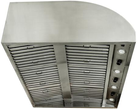 BLZ-42-VHOOD 42″ Vent Hood with 2000 CFM  4 Speeds  4 LED Lights  in Stainless