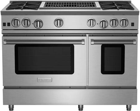 BlueStar RNB Series RNB484CBV2 Freestanding Gas Range Stainless Steel, RNB484CBV2 RNB Series Range