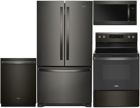 Whirlpool  930562 Kitchen Appliance Package Black Stainless Steel, main image