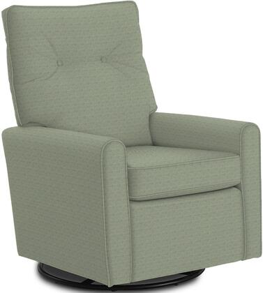 Phylicia Collection 4007-21083C Recliner with 360-Degrees Swivel Glider Metal Base  Removable Back  High Backrest  Zipper Access and Fabric