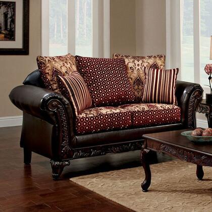 Furniture of America Ellis SM7507NLV Loveseat Brown, sm7507n lv 1