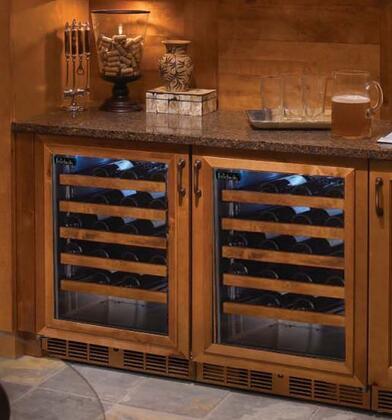 Perlick Signature 1443770 Wine Cooler 51-75 Bottles Panel Ready, 1
