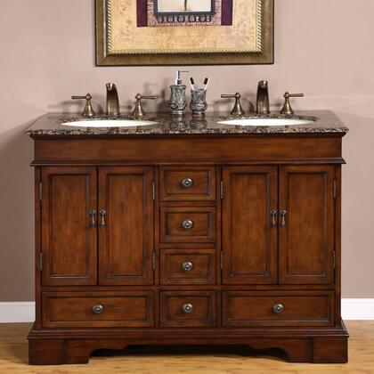Silkroad Exclusive Ashley HYP0715BBUIC48 Sink Vanity Brown, 1