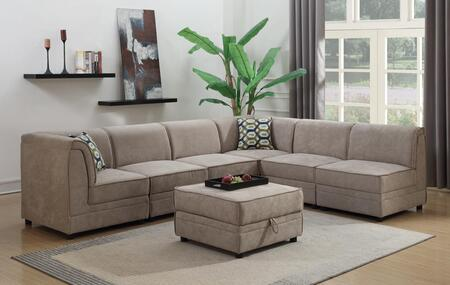 Myco Furniture Charlotte 20267PC Stationary Sofa Brown, 2026-7PC