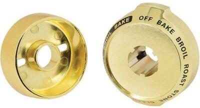 Wolf 804378 Trim Kit Brass, Brass Bezels