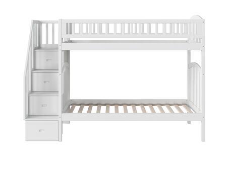 Atlantic Furniture Westbrook AB65602 Bed White, AB65602 SILO SK 180