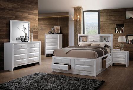 Acme Furniture Ireland 21710FSET Bedroom Set White, 5 PC Set