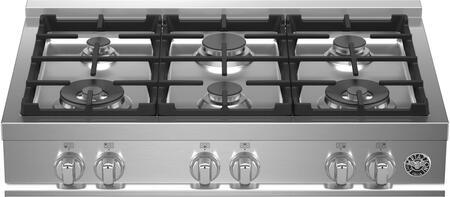 Bertazzoni Master MAST366RTXELP Gas Cooktop Stainless Steel, MAST366RTXE Master Series Gas Rangetop