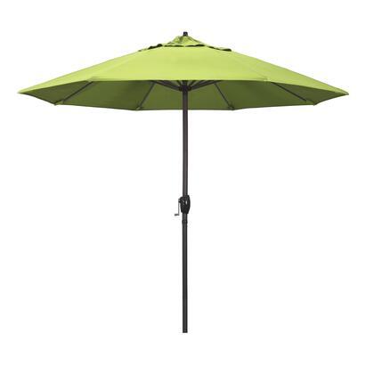 Casa Collection ATA908117-5405 9′ Patio Umbrella With Bronze Aluminum Pole Aluminum Ribs Auto Tilt Crank Lift With Sunbrella 2A Parrot