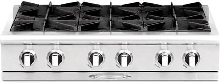 Capital Culinarian CGRT366N Gas Cooktop Stainless Steel, Main Image